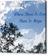 Hope Acrylic Print by Aimee L Maher Photography and Art Visit ALMGallerydotcom
