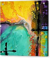 Hope - Colorful Abstract Art By Sharon Cummings Acrylic Print