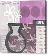 Hope- Contemporary Art Acrylic Print by Linda Woods