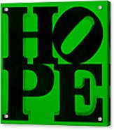 Hope In Green Acrylic Print