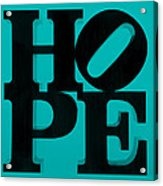 Hope In Light Blue Acrylic Print