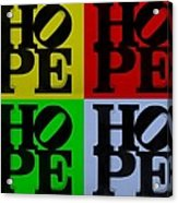 Hope In Quad Colors Acrylic Print