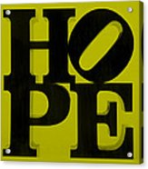 Hope In Yellow Acrylic Print