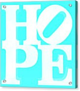 Hope Inverted Aquamarine Acrylic Print