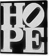 Hope Inverted Black Acrylic Print