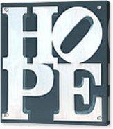 Hope Inverted Denim Acrylic Print