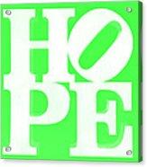 Hope Inverted Green Acrylic Print