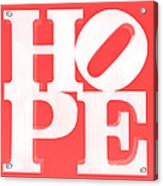 Hope Inverted Red Acrylic Print