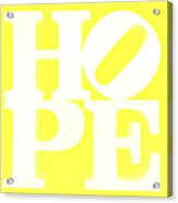 Hope Inverted Yellow Acrylic Print