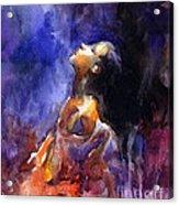 'hope' Woman Portrait  Acrylic Print
