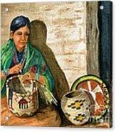 Hopi Basket Weaver Acrylic Print