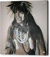 Hopi Snake Priest Acrylic Print by Terri Ana Stokes