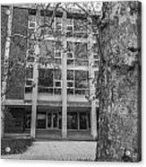 Hopkins Hall Black And White Acrylic Print