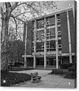 Hopkins Hall Osu Black And White  Acrylic Print
