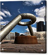 Horace Dodge Fountain Hart Plaza Detroit Michigan  Acrylic Print