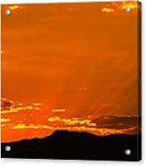 Horetooth Rock At Sunset Acrylic Print