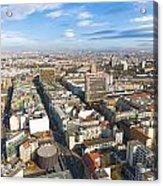 Horizontal Aerial View Of Berlin Acrylic Print