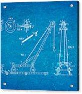 Hornby Meccano Patent Art 1906 Blueprint Acrylic Print