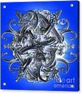 Horned Circle Blue Acrylic Print