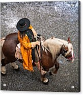 Horse And Rider From Above Acrylic Print