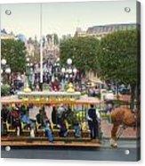 Horse And Trolley Main Street Disneyland 02 Acrylic Print