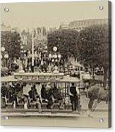 Horse And Trolley Main Street Disneyland Heirloom Acrylic Print