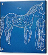 Horse Automatic Toy Patent Artwork 1867 Acrylic Print by Nikki Marie Smith