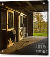 Horse Barn Sunset Acrylic Print