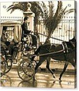 Horse Drawn Carriage Ride Acrylic Print
