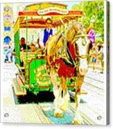 Horse Drawn Trolley Car Main Street Usa Acrylic Print