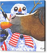 Horse Got Your Nose Acrylic Print