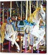 Horse On Carousel Acrylic Print