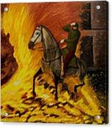 Horse On The Fire Acrylic Print