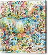 Horse Painting.20 Acrylic Print