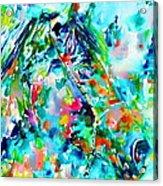 Horse Painting.30 Acrylic Print