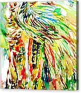 Horse Painting.31 Acrylic Print