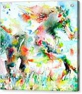 Horse Painting.36 Acrylic Print