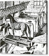 Horse Powered Stall Cleaner, 1880 Acrylic Print