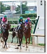 Horse Races At Churchill Downs Acrylic Print