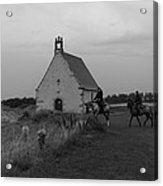 Horse Riders By The Church Acrylic Print