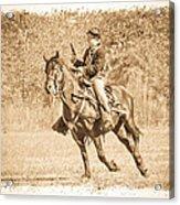 Horseback Soldier Acrylic Print