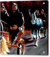 Horses And Carriages Acrylic Print