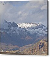 Horses In North Fork Canyon   #4876 Acrylic Print