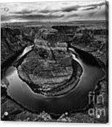 Horseshoe Bend Arizona Monochrome Acrylic Print