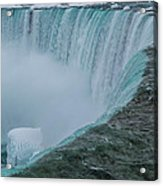 Horseshoe Falls Ice Formations Acrylic Print