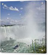 Horseshoe Falls With Maid Of The Mist Acrylic Print by Peter Mintz