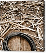 Horseshoe On Barn Floor Acrylic Print