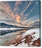 Horsetooth Sunset Hdr Acrylic Print