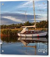 Horsey Mere In Evening Light Acrylic Print