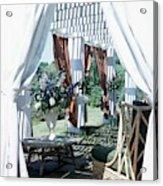 Horst's Patio In Long Island Acrylic Print